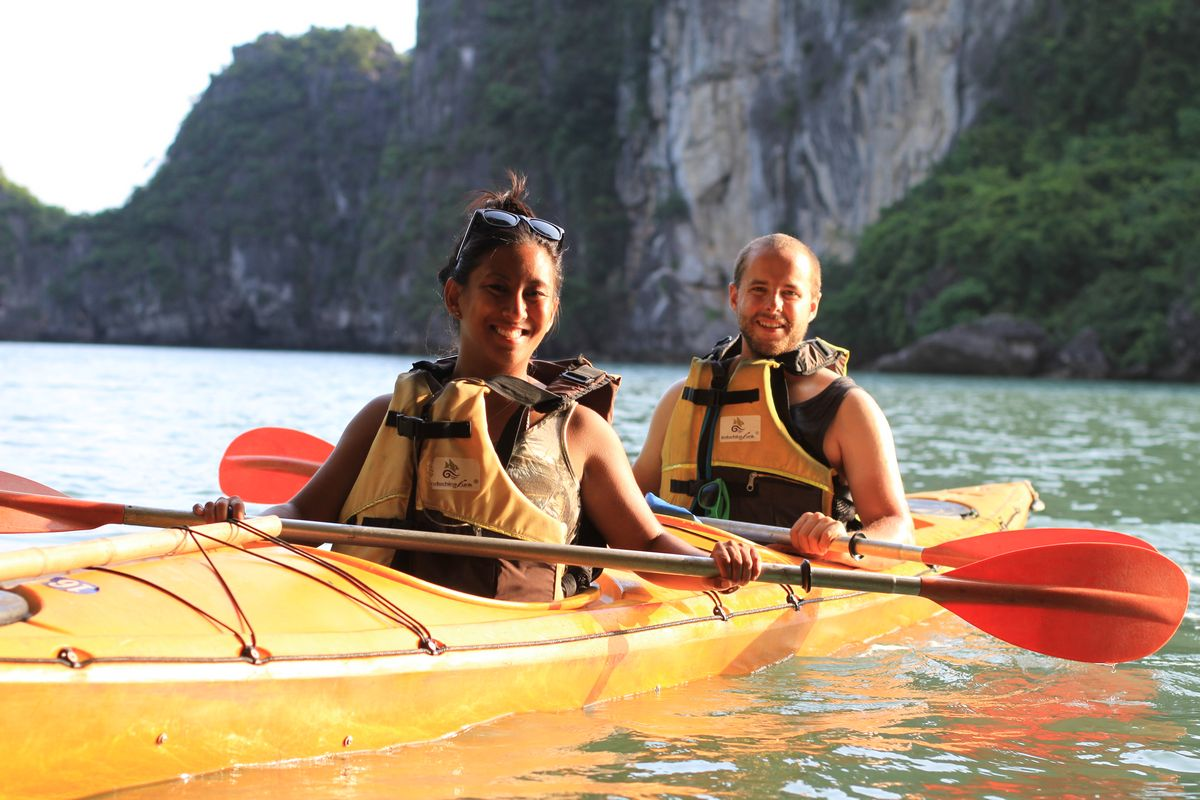 Halong Bay Cruise Kayaking