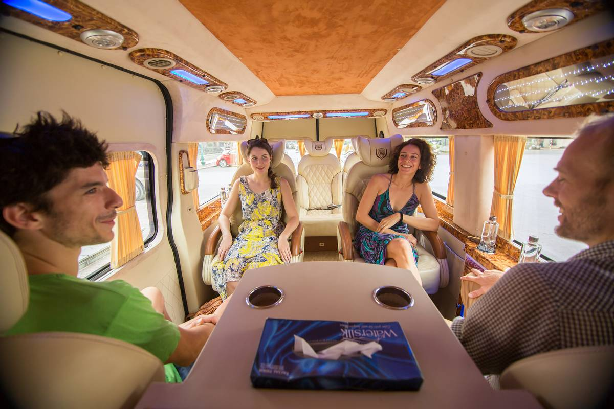 Luxury van – the exclusive premium transfer between Hanoi and Halong Bay for Dragon Legend cruise's customer